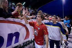 Damjan Trifkovic of Rudar celebrates with fans at 1st Round of Europe League football match between NK Rudar Velenje (Slovenia) and Trans Narva (Estonia), on July 9 2009, in Velenje, Slovenia. Rudar won 3:1 and qualified to 2nd Round. (Photo by Vid Ponikvar / Sportida)