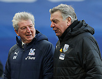 Football - 2020 /2021 Premier League - Crystal Palace vs West Bromwich Albion - Selhurst Park<br /> <br /> Crystal Palace manager Roy Hodgson and West Bromwich Albion Manager Sam Allardyce walk off together at full time