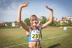Neja Filipic celebrates during day 1 of Slovenian Athletics Cup 2019, on June 15, 2019 in Celje, Slovenia. Photo by Peter Kastelic / Sportida
