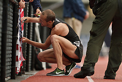 Olympic Trials Eugene 2012: men's 10,000 meter final, victory lap for Olympic team qualifier Dathan Ritzenhein