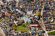 Nederland, Friesland, Gemeente Sudwest-Fryslan, 16-04-2012; Bolsward (Boalsert), centrum met Broerekerk (met glazen dak) en stadhuis..Frisian city of Bolsward..luchtfoto (toeslag), aerial photo (additional fee required).foto/photo Siebe Swart