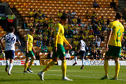Darnell Fisher of Preston North End scores and celebrates to make it 1-2 - Mandatory by-line: Phil Chaplin/JMP - 19/09/2020 - FOOTBALL - Carrow Road - Norwich, England - Norwich City v Preston North End - Sky Bet Championship
