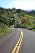 Curved road, Waimea Canyon, Kauai, Hawaii<br />