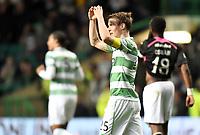 08/03/15 SCOTTISH PREMIERSHIP <br /> CELTIC V PARTICK THISTLE <br /> CELTIC PARK - GLASGOW<br /> Celtic's Stefan Johansen celebrates after scoring his goal