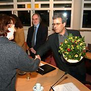 Installatie nieuwe raadsleden gemeente Huizen, felicitatie