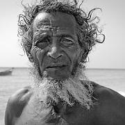 Fisherman, Shouab beach, Qalansiyah, Socotra island, listed as World Heritage by UNESCO, Aden Governorate, Yemen, Arabia, West Asia