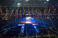 Boxing - 2017_<br /> Dillian Whyte v Robert Helenius (WBC silver heavyweight) <br /> <br /> General view of the venue with the roof close & floodlights illuminating the auditorium<br /> , at the Principality Stadium, Cardiff.<br /> <br /> COLORSPORT/WINSTON BYNORTH