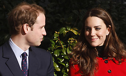 Prince William and Kate Middleton during a visit to the University of St Andrews, where they first met.