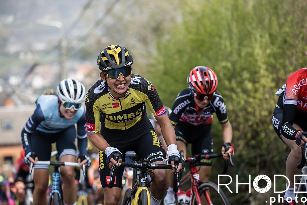 Anouska Koster (NED/Jumbo-Visma)<br /> <br /> 24th la Flèche Wallonne Féminin 2021 (1.UWT)<br /> 1 Day Race: Huy – Huy 130,5km<br /> <br /> ©RhodePhoto