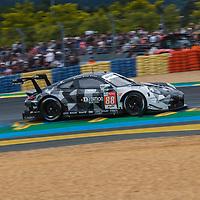 #88, Dempsey-Proton Racing, Porsche 911 RSR, LMGTE Am, driven by: Satoshi Hoshino, Giorgio Roda, Matteo Cairoli on 15/06/2019 at the Le Mans 24H 2019