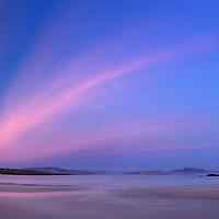 Stunning Sunset Panorama at Ballinskelligs Beach, County Kerry, Ireland / ba039