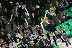 29.01.2013, Hala Tivoli, Ljubljana, SLO, EBEL, HDD Olimpija Ljubljana vs Dornbirner Eishockey Club, 4. Qualifikationsrunde, im Bild Cheerleaders // during the Erste Bank Icehockey League 4th Qualification Round match between HDD Olimpija Ljubljana and Dornbirner Eishockey Club at the Hala Tivoli, Ljubljana, Slovenia on 2013/01/29. EXPA Pictures © 2013, PhotoCredit: EXPA/ Sportida/ Matic Klansek Velej..***** ATTENTION - OUT OF SLO *****