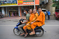 """Monks in Phnom Penh, Cambodia<br /> Available as Fine Art Print in the following sizes:<br /> 08""""x12""""US$   100.00<br /> 10""""x15""""US$ 150.00<br /> 12""""x18""""US$ 200.00<br /> 16""""x24""""US$ 300.00<br /> 20""""x30""""US$ 500.00"""
