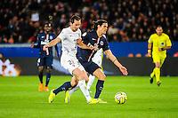 Edinson CAVANI / Kevin LEJEUNE - 28.04.2015 - Paris Saint Germain / Metz - Match en retard - 32eme journee Ligue 1<br />Photo : Nolwenn Le Gouic / Icon Sport