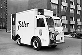 """1962 - Williams and Woods """"Tobler"""" NCB electric van at Williams and Woods"""
