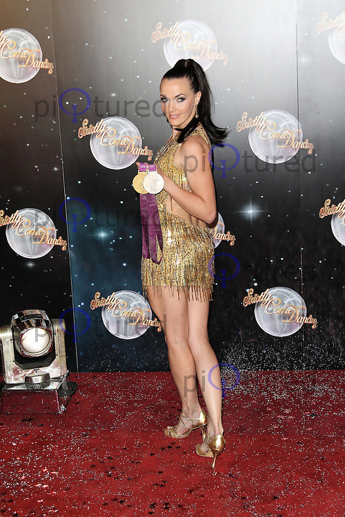 LONDON - SEPTEMBER 11: Victoria Pendleton attended the Strictly Come Dancing Launch at the BBC Television Centre, London, UK. September 11, 2012. (Photo by Richard Goldschmidt)