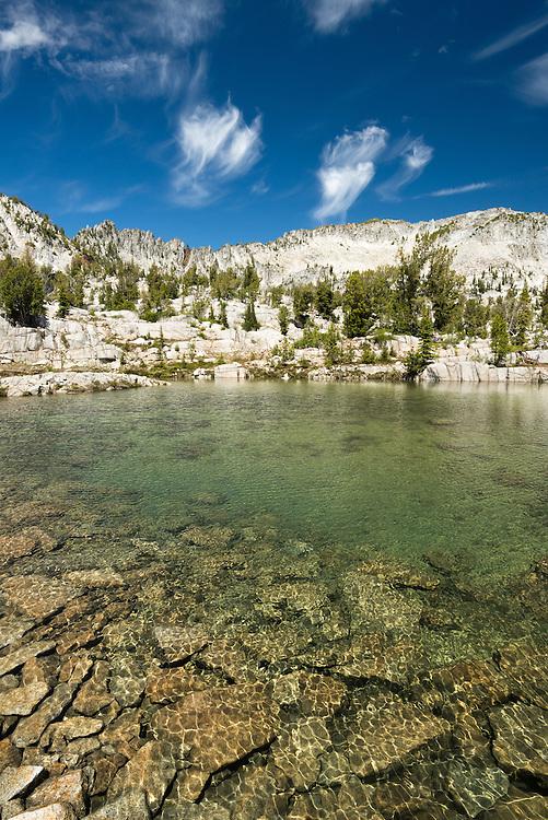 Sub-alpine lake in Oregon's Wallowa Mountains.