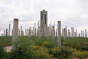 Israel, Negev Near the Gaza Border, A monument in the memory of the soldiers who fought and fell the Six Day War in 1967 in the Armoured Corps