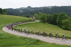 June 4, 2017 - Saint Etienne, France - SAINT-ETIENNE, FRANCE - JUNE 4 : Illustration picture of the peloton Landscape Bunch Postcard Post card Paysage Carte Postale landschap briefkaart  during stage 1 of the 69th edition of the Criterium du Dauphine Libere cycling race, a stage of 170 kms between Saint-Etienne and Saint-Etienne on June 04, 2017 in Saint-Etienne, France, 4/06/2017 (Credit Image: © Panoramic via ZUMA Press)