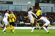 Burton Albion forward Devante Cole (44) and Peterborough United forward Ivan Toney (17) during the EFL Sky Bet League 1 match between Burton Albion and Peterborough United at the Pirelli Stadium, Burton upon Trent, England on 27 October 2018.