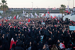 © under license to London News Pictures. 19/02/2011. Women gather at the Pearl Roundabout in Manama, Bahrain to protest against the Royal Family's Rule today (19/02/2011).  Photo credit should read Michael Graae/London News Pictures