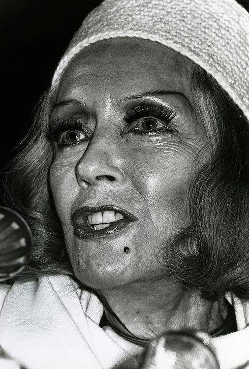 American Hollywood actress Gloria Swanson seen at the Deaville Film Festival, France in 1978.Photographed by Jayne Fincher