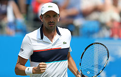 France's Julien Benneteau celebrates a point during day two of the 2017 AEGON Championships at The Queen's Club, London.