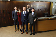 SHOT 1/8/19 12:13:28 PM - Bachus & Schanker LLC lawyers James Olsen, Maaren Johnson, J. Kyle Bachus, Darin Schanker and Andrew Quisenberry in their downtown Denver, Co. offices. The law firm specializes in car accidents, personal injury cases, consumer rights, class action suits and much more. (Photo by Marc Piscotty / © 2018)