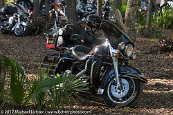 Campground across from the Cabbage Patch during Daytona Bike Week. New Smyrna Beach, FL. USA. Wednesday March 15, 2017. Photography ©2017 Michael Lichter.