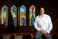 Nathan Douglas, photographed at the First Baptist Church of Mount Dora in Mt. Dora, Fla., Friday, Dec. 20, 2013, lost his wife and two daughters in an automobile accident on Alligator Alley last January.(Special to the Daily News/Phelan M. Ebenhack)