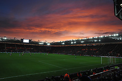 A beautiful sky sets over the St Mary's Stadium.  - Photo mandatory by-line: Alex James/JMP - Mobile: 07966 386802 - 20/12/2014 - SPORT - Football - Southampton  - St Mary's Stadium - Southampton  v Everton - Football