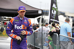 October 5, 2018 - Dover, Delaware, United States of America - Denny Hamlin (11) hangs out in the garage during practice for the Gander Outdoors 400 at Dover International Speedway in Dover, Delaware. (Credit Image: © Justin R. Noe Asp Inc/ASP via ZUMA Wire)