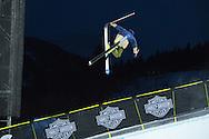 David Wise during Ski Superpipe Practice during 2015 X Games Aspen at Buttermilk Mountain in Aspen, CO. ©Brett Wilhelm/ESPN