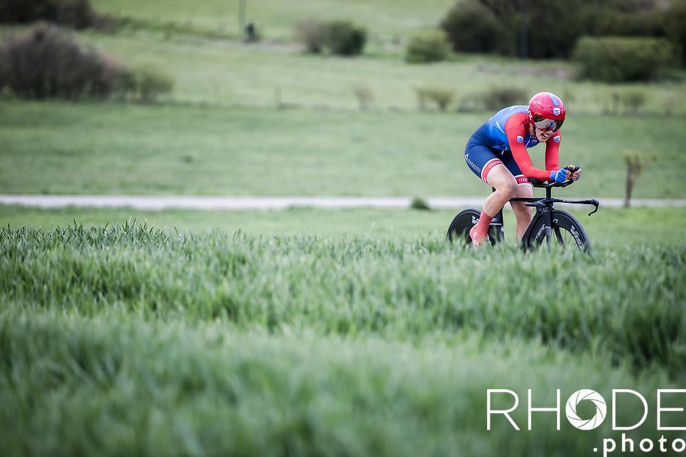 Lara Viecili (ITA/Ceratizit-WNT)<br /> <br /> Ceratizit Festival Elsy Jacobs (LUX) 2021<br /> UCI Women Elite 2.1<br /> Day 1 - prologue : Individual Time Trial (ITT) – Cessange (LUX) 2.2km <br /> <br /> ©RhodePhoto