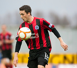 Queen of the South's Nicky Clark..Falkirk 1 v 0 Queen of the South, 15/10/2011..Pic © Michael Schofield.