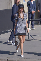 Anna Brewster arriving at the Chanel show during Haute Couture Paris Fashion Week Fall/Winter 2018/19 in Paris, France on July 03, 2018. Photo by Julien Reynaud/APS-Medias/ABACAPRESS.COM