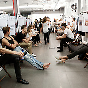 Milan, Italy, June the 23rd 2012. Backstage at Zegna show In Milan, Men's Fashion Week, Spring/Summer 2013. Reportage for Cosmopolitan Germany.