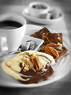 Chocolate biscuits and coffee