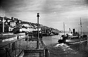 01/02/1957<br /> 02/01/1957<br /> 01 February 1957<br /> Cobh, Co. Cork. The tender leaving to meet the (text illegible).