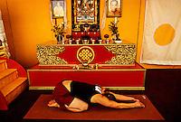 Yoga Class, Main Shrine Tent, Shambhala Mountain Center, Red Feather Lakes, Colorado USA