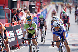 Carmen Small (Cylance Pro Cycling) crosses the line at Madrid Challenge by La Vuelta an 87km road race in Madrid, Spain on 11th September 2016.