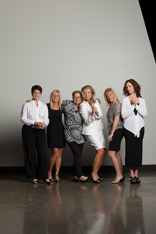 19 April 2012- From Left to Right: Cynthia Keterson, Carrie Geihs, Vi Sain, Barb Garney, Robyn Petersen, and Celeste Robbins are photograhed at Minorwhite Studios for B2B Magazine.