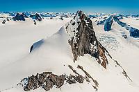 Aerial view, Juneau Icefields, Juneau, Alaska USA.