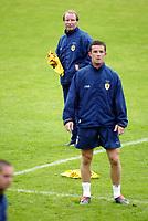 Football, 19. August 2003, Bislett Stadium, Oslo, Training Skottland, Berti Vogts