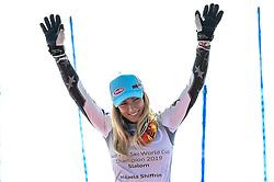 March 16, 2019 - El Tarter, Andorra - Mikaela Shiffrin of USA Ski Team, win the Crystal Globe at  Ladies Giant Slalom Audi FIS Ski World Cup, on March 16, 2019 in El Tarter, Andorra. (Credit Image: © Joan Cros/NurPhoto via ZUMA Press)