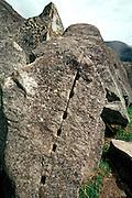 PERU, PREHISPANIC, INCA Machu Picchu; a stone in quarry