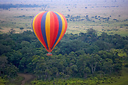 Hot Air Balloon ride over the Maasai Mara, Kenya, Africa in Kenya, Africa