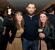 Kerry women Mairead and Caroline Carmody living in Newcastle Galway with Connacht Captain John Muldoon at the Guinness Area22 event in the Carlton Hotel Galway