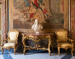 Detail from room tn Capitolini Museums in Rome Italy