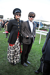 Singer JACK PENATE and TESSA EDWARDS at the 2012 Hennessy Gold Cup at Newbury Racecourse, Berkshire on 1st December 2012